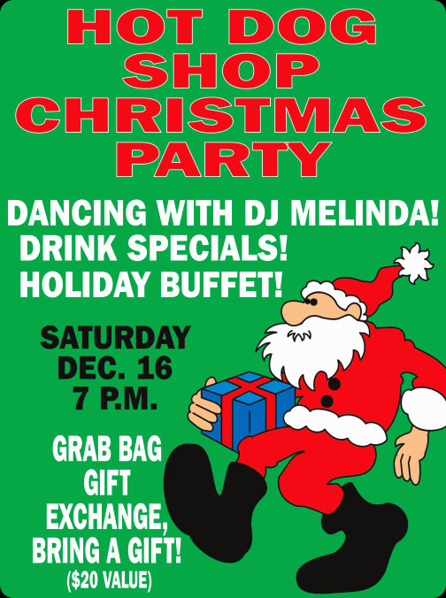 Christmas Party with Free Buffet, Drink Specials and Gift Exchange